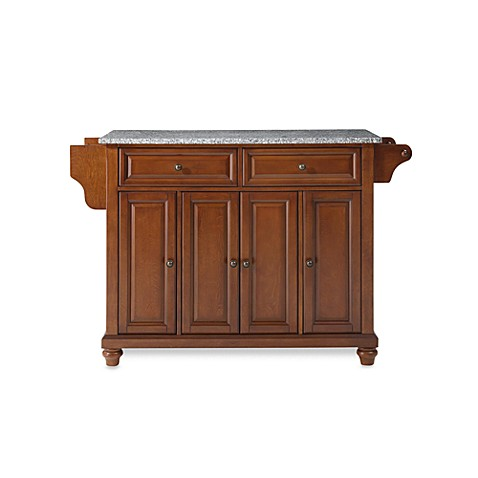 Crosley Cambridge Granite Top Kitchen Island in Cherry