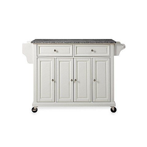 Buy Crosley Rolling Kitchen Cart Island With Solid Granite Top In White From Bed Bath Beyond