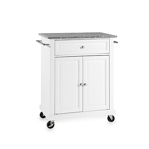 Crosley Granite Top Rolling Portable Kitchen Cart/Island