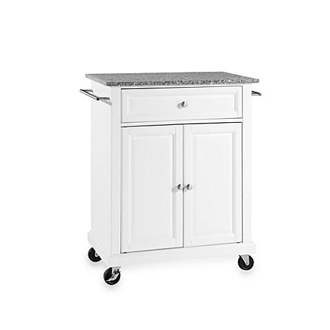 Crosley Granite Top Rolling Portable Kitchen Cart/Island - Bed Bath ...