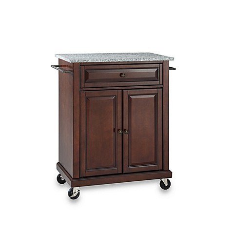 Buy Crosley Granite Top Rolling Portable Kitchen Cart Island In Mahogany From Bed Bath Beyond