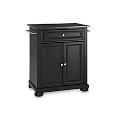 image of crosley alexandria black granite top portable kitchen island