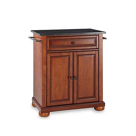 Buy Crosley Alexandria Black Granite Top Portable Kitchen Island In Cherry From Bed Bath Beyond