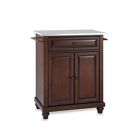 Buy Crosley Cambridge Stainless Steel Top Portable Kitchen Island In Mahogany From Bed Bath Beyond