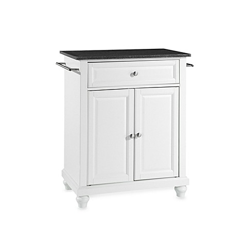 Buy Crosley Cambridge Black Granite Top Portable Kitchen Island In White From Bed Bath Beyond