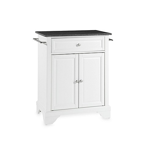 Buy Crosley Lafayette Black Granite Top Portable Kitchen Island In White From Bed Bath Beyond