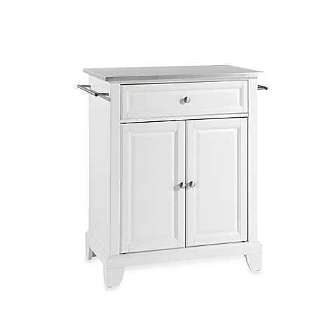stainless steel portable kitchen island crosley newport stainless steel top portable kitchen 25952
