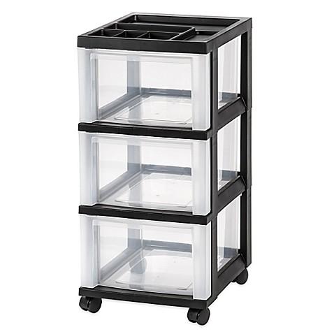 IRISu0026reg; 3 Drawer Rolling Storage Cart