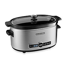 image of KitchenAid® 6-Quart Slow Cooker with Glass Lid