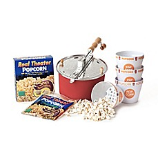 image of Whirley Pop™ Stainless Steel Popcorn Maker Starter Set in Red