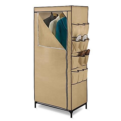 Honey Can Dou0026reg; 27 Inch Cloth Storage Wardrobe With Shoe Organizer In