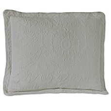 image of Historic Charleston Collection Matelasse King Pillow in Grey