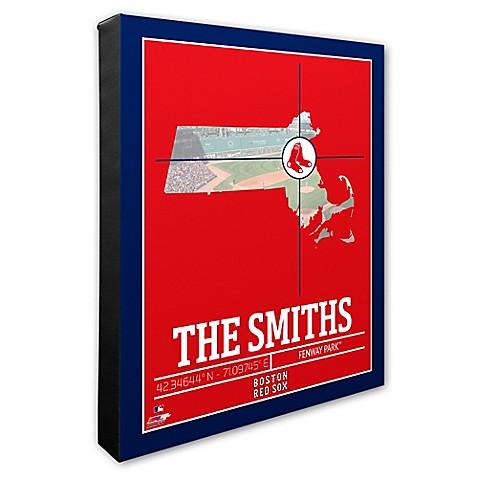 MLB Boston Red Sox Photo Coordinates Canvas Framed Print Wall Art ...