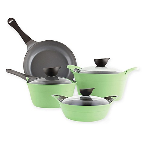 Neoflam® Eela Ceramic Nonstick Cast Aluminum 7-Piece Cookware Set in Green