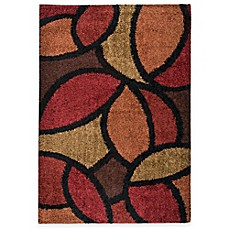image of Aria Rugs Shagadelic Bloom Petal Rouge Rectangle Rug