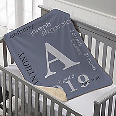 Personalized baby blankets custom baby throws bed bath beyond all about baby sherpa blanket negle Choice Image