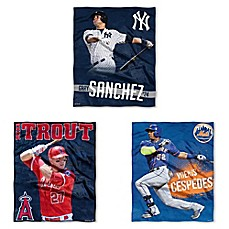 image of MLB Silk Touch Player Throw Blanket Collection