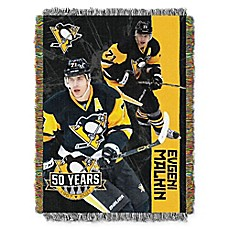 image of NHL Pittsburgh Penguins Evgeni Malkin Player Woven Tapestry Throw Blanket<br />
