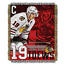 image of NHL Chicago Blackhawks Jonathan Toews Player Woven Tapestry Throw Blanket