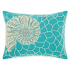 image of Mina Victory by Nourison Nautilus Oblong Throw Pillow in Turquoise