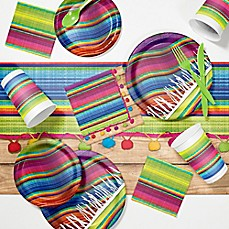 image of Creative Converting 81-Piece Serape Fiesta Party Supplies Kit