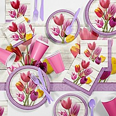 image of Creative Converting™ 81-Piece Beautiful Blooms Floral Party Supplies Kit