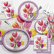 image of Creative Converting™ 89-Piece Beautiful Blooms Floral Deluxe Party Supplies Kit