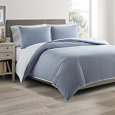 image of Real Simple® DUO Clipped Jacquard Butterfly Coverlet/Duvet Cover Set