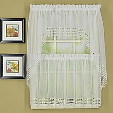 Chandelier Macrame Voile Kitchen Window Curtain Tiers And Valances
