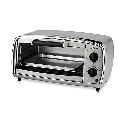 Oster 4 slice stainless steel toaster oven bed bath beyond for Toaster oven stainless steel interior