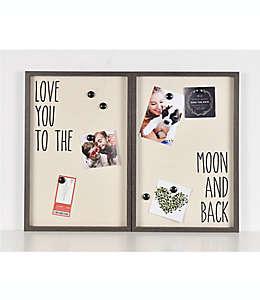 """""""Love you to the moon and back"""" Tablero con imán para collage de fotos de 63.5 x 40.64 cm"""