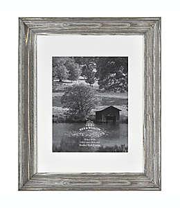 Bee & Willow Portarretratos de madera con paspartú de 20.32 x 25.4 cm en plata antigua