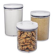 OXO Good Grips® 3-Piece POP Canister Set  sc 1 st  Bed Bath \u0026 Beyond & Kitchen Canisters Glass Canister Sets for Coffee | Bed Bath \u0026 Beyond
