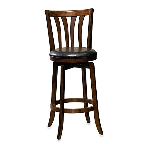 Hillsdale Savana 30 Inch Swivel Bar Stool In Cherry Bed