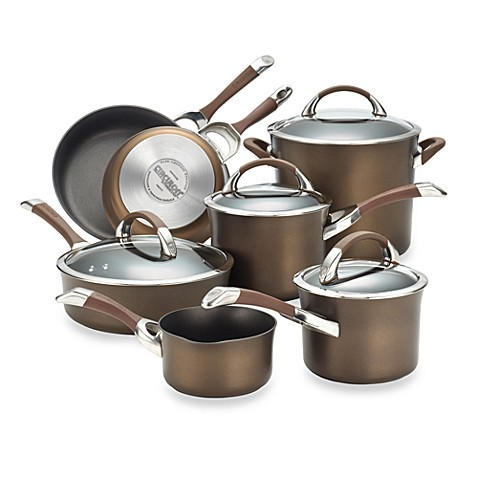 Circulon® Symmetry™ Chocolate Brown 11-Piece Cookware Set
