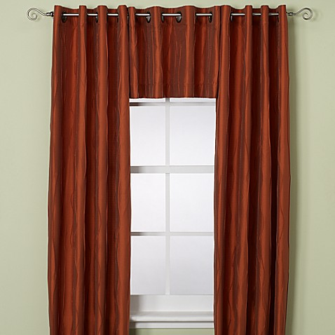 Buy Venice Window Curtain Panel 108 Inch Rust From Bed Bath Beyond