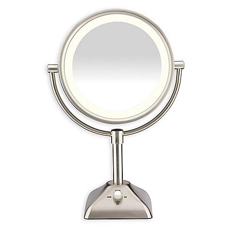 Conair 174 Variable Lighted 1x 10x Mirror In Satin Nickel