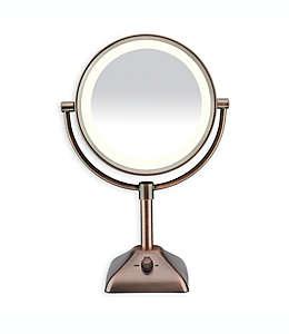 Espejo con luz variable 1X/10X Conair®, en bronce aceitado