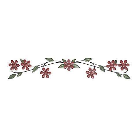 Fetco Home Décor Bexler Floral 43.5-Inch x 8.25-Inch Metal Wall Art ...