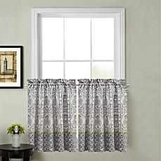 calais kitchen window curtain tier pair - Kitchen Window Curtains