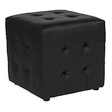 Flash Furniture Avendale Leather Ottoman In Black