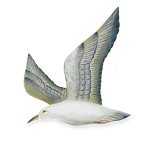 T.I. Design Left-Facing Hand-Carved Flying Seagull