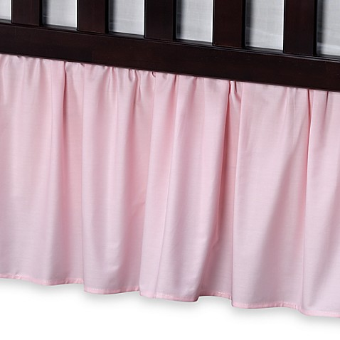 buy t l care cotton percale crib bed skirt in pink from bed bath beyond