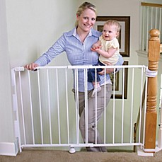 Marvelous Image Of Regalo® 2 In 1 Top Of Stairs Gate