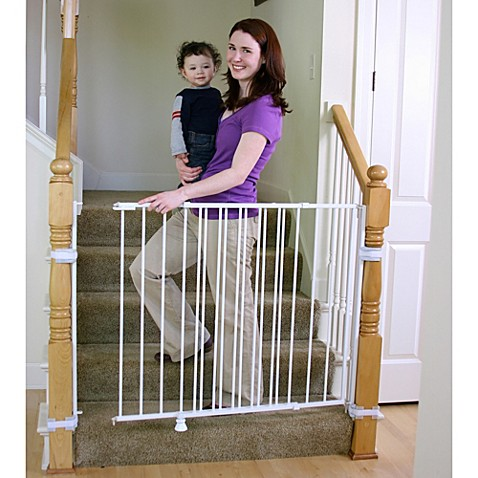 Regalo 174 2 In 1 Extra Tall Top Of Stairs Gate Buybuy Baby