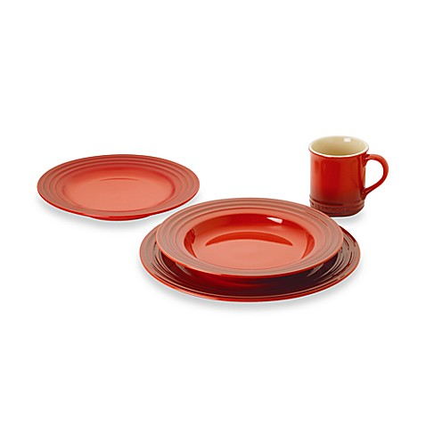 Le Creuset\u0026reg; Dinnerware Collection in Cherry  sc 1 st  Bed Bath \u0026 Beyond & Le Creuset® Dinnerware Collection in Cherry - Bed Bath \u0026 Beyond