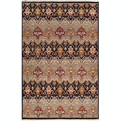 Surya Cambridge Medallion 9' x 13' Hand Knotted Area Rug in Medium Grey