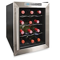image of Vinotemp® 12-Bottle Thermoelectric Wine Cooler VT-12TEDS