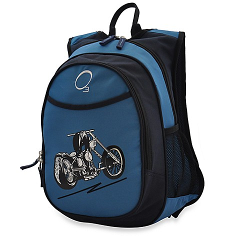 O3 Kids All-in-One Backpack with Cooler in Blue Motorcycle