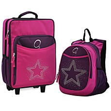 image of O3 Kids Backpack and Luggage Set in star.